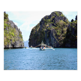 "Lagoon at El Nido Palawan 20""X16"" Photo Print"