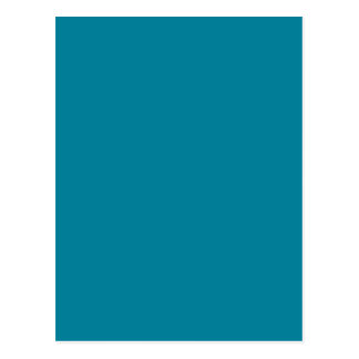 Lagoon Deep Teal Blue Solid Trend Color Background Postcard