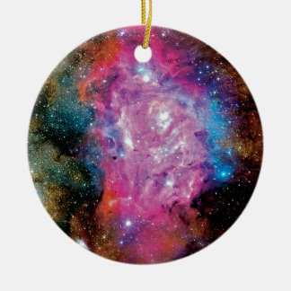 Lagoon Emission Nebula Interstellar Cloud Photo Ceramic Ornament