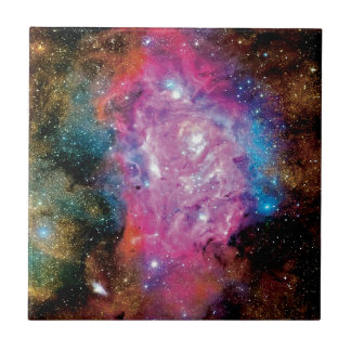 Lagoon Emission Nebula Interstellar Cloud Photo Ceramic Tile