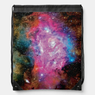 Lagoon Emission Nebula Interstellar Cloud Photo Drawstring Backpack