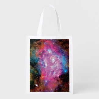 Lagoon Emission Nebula Interstellar Cloud Photo Grocery Bag