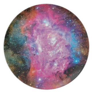 Lagoon Emission Nebula Interstellar Cloud Photo Melamine Plate