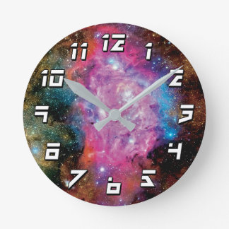 Lagoon Emission Nebula Interstellar Cloud Photo Round Clock