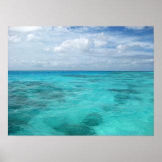 Lagoon in Maldives Print