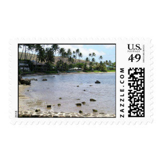 Lagoon in Paradise Postage Stamp