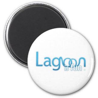 Lagoon Is Fun Logo 2 Inch Round Magnet