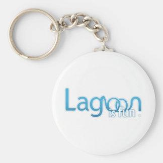 Lagoon Is Fun Logo Keychain