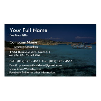 Lagoon Mediterranean Island of Sardinia Business Card