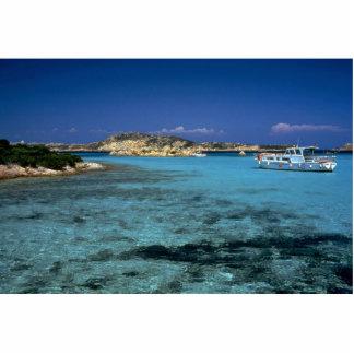Lagoon, Mediterranean Island of Sardinia Cut Out
