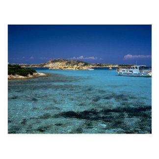 Lagoon, Mediterranean Island of Sardinia Postcard