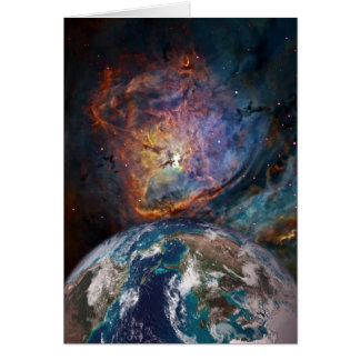 Lagoon Nebula and Earth 2 Card