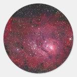 Lagoon Nebula Classic Round Sticker