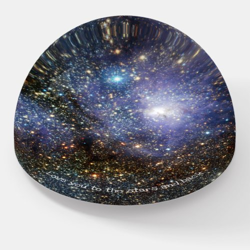 Lagoon nebula custom text astronomy paperweight