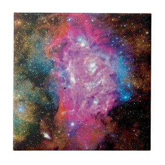 Lagoon Nebula NGC 6523 Ceramic Tile