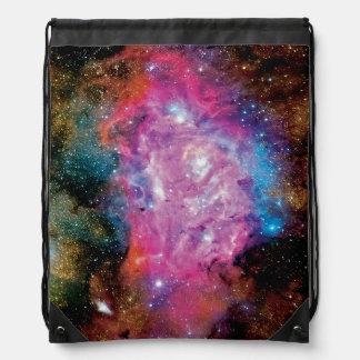 Lagoon Nebula NGC 6523 Drawstring Backpack