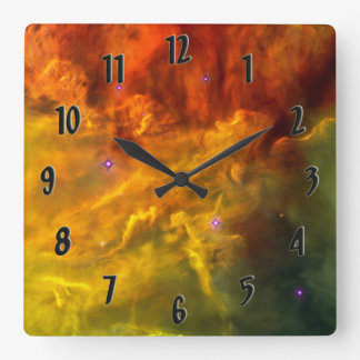 Lagoon Nebula Square Wall Clock