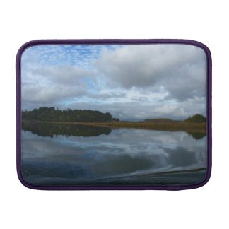 Lagoon reflections in a cloudy day MacBook sleeve