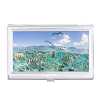 Lagoon safari trip featuring Stingrays Business Card Case
