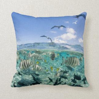 Lagoon safari trip featuring Stingrays Pillow