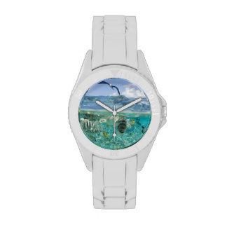 Lagoon safari trip featuring Stingrays Wristwatch