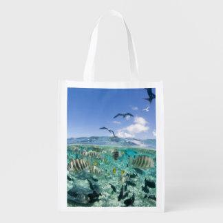 Lagoon safari trip featuring Stingrays Reusable Grocery Bag