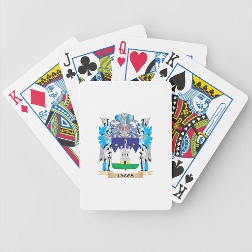 Lagos Coat of Arms - Family Crest Card Deck