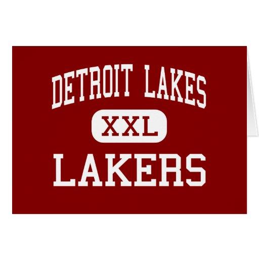 Lagos detroit - Lakers - altos - lagos detroit Tarjeta De Felicitación