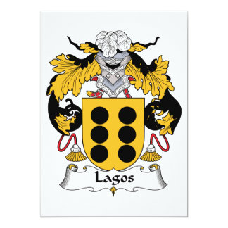 "Lagos Family Crest 5"" X 7"" Invitation Card"
