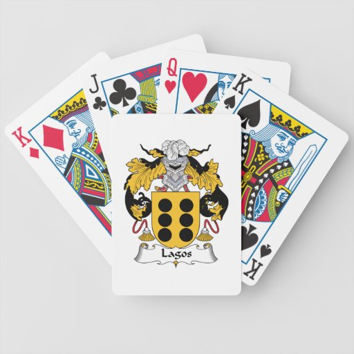 Lagos Family Crest Deck Of Cards