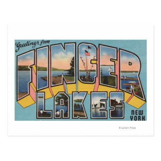 Lagos finger, Nueva York - escenas grandes de la Postal