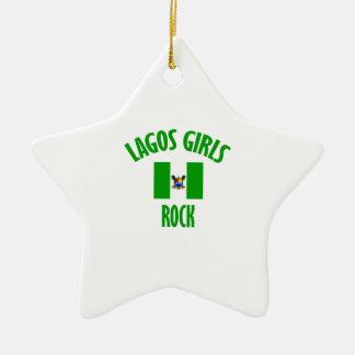Lagos girls DESIGNS Ceramic Ornament