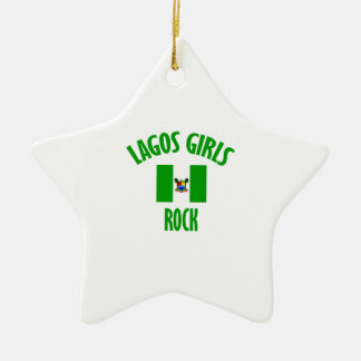 Lagos girls rock DESIGNS Ceramic Ornament