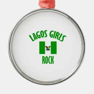 Lagos girls rock DESIGNS Metal Ornament
