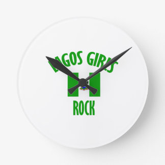 Lagos girls rock DESIGNS Round Clock