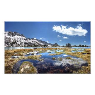 Lagos jovenes - Yosemite - montañas de Sierra Fotografía