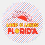 Lagos land O, la Florida Pegatina Redonda