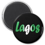 Lagos, Nigeria 2 Inch Round Magnet