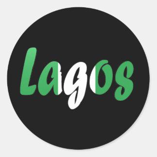 Lagos, Nigeria Pegatina Redonda