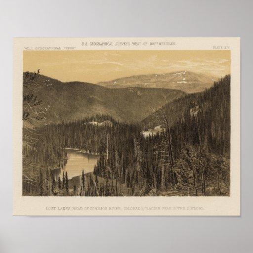 Lagos perdidos, río de Conejos, Colorado Póster
