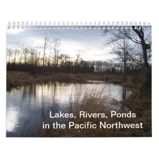 Lagos, ríos, charcas en el noroeste pacífico calendarios