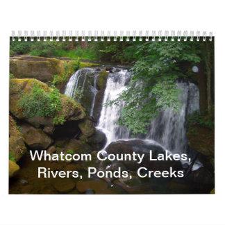 Lagos whatcom County, ríos, charcas, calas Calendario
