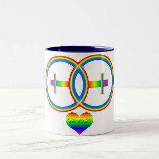 LAGOSI 001Rainbow-2female-mug Taza De Dos Tonos