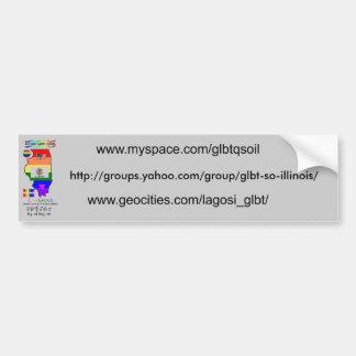 LAGOSI, grey bumper sticker