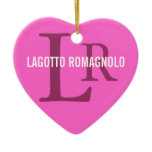 Lagotto Romagnolo Breed Monogram Ceramic Ornament
