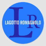 Lagotto Romagnolo Breed Monogram Classic Round Sticker