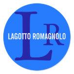 Lagotto Romagnolo Breed Monogram Classic Round Sticker