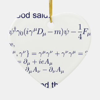 Lagrangian_QED_transp.png Ceramic Ornament
