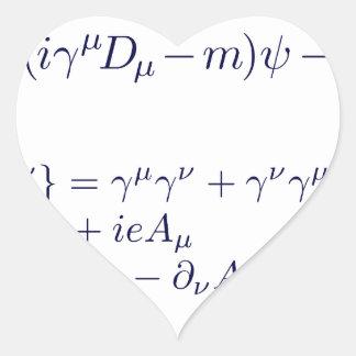 Lagrangian_QED_transp.png Heart Sticker