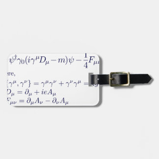 Lagrangian_QED_transp.png Luggage Tag
